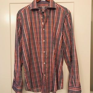 Men's Bugatchi Multi Check Long Sleeved Shirt